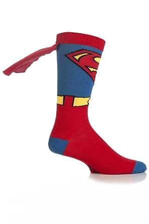 Mens 1 Pair SockShop Superman Cape Socks Multi Coloured 6-11