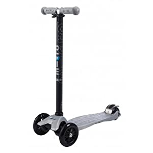 Maxi Micro Scooter - Silver with T-bar by Micro Kickboard
