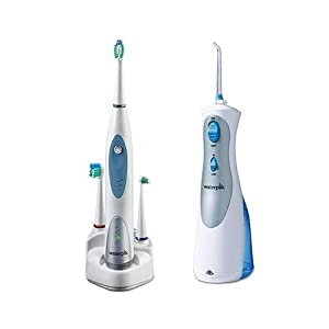 waterpik cordless plus water flosser sensonic professional toothbrush system. Black Bedroom Furniture Sets. Home Design Ideas