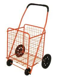 RED Medium Folding Shopping Cart