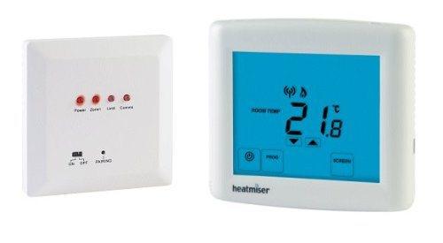 Wireless Touchscreen Programmable Thermostat with HW Output - Heatmiser PRTHW-WTS Kit