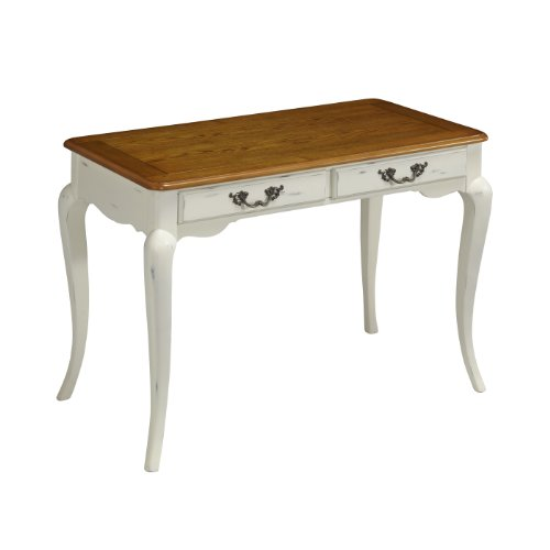 Home Styles 5518-16 The French Countryside Student Desk, Oak And Rubbed White front-868506