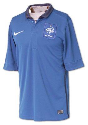 FRANCE Maillot Réplique Saison 2011/12 Domicile Manches Courtes pour Homme, S