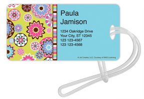 Checks In The Mail - Sparkle Spin Luggage Tags