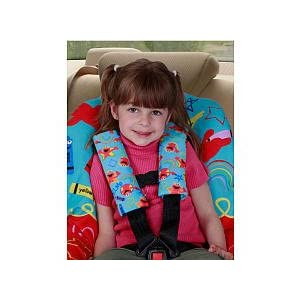 Image: Sesame Street Elmo Seat Belt Covers - Prevents chafing and rubbing