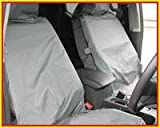 BMW E93 (3 SERIES) CONVERTIBLE (2007 ON) GREY FRONT NYLON WATERPROOF CAR SEAT COVER SET