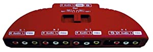 4 Way Phono Selector Switch. Red