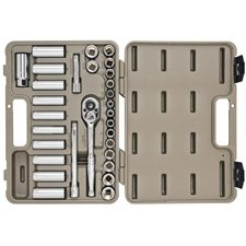 Crescent CTK30SET 30 Piece Socket and Tool Set with Hard Case and Wrap-by-Crescent
