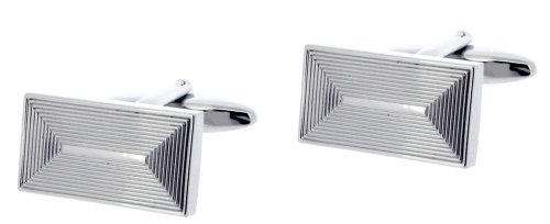 code-red-mens-rhodium-plated-grooved-roof-shape-base-metal-cufflink