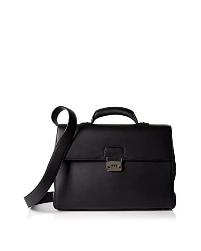 Ermenegildo Zegna Men's Briefcase Bag, Nero