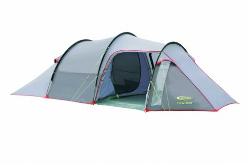 Gelert Newland Four Man Tent - Frosted Grey/Hot Red