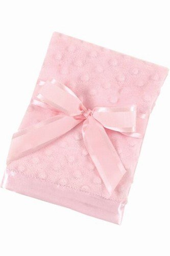 Bearington Baby - Small Dottie Snuggle Blanket (Pink) - 1