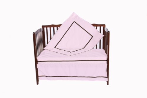 Baby Doll 3 Piece Crib Bedding Set, Pink