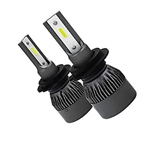 Car Bulbs, OTOLAMPARA 2pcs H10 / H9 / H7 Car Light Bulbs 40 W High Performance LED 4000 lm 2 LED Headlamp for Volkswagen/Toyota/Peugeot Polo/Camry/Astra 2018/2017 (Color: White, Tamaño: H11)