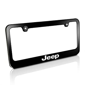 jeep black metal license plate frame automotive. Cars Review. Best American Auto & Cars Review