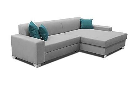 Bigsofa Anika Divano Divano Divano ad angolo divano ad angolo con Funzione letto Divano letto 01311