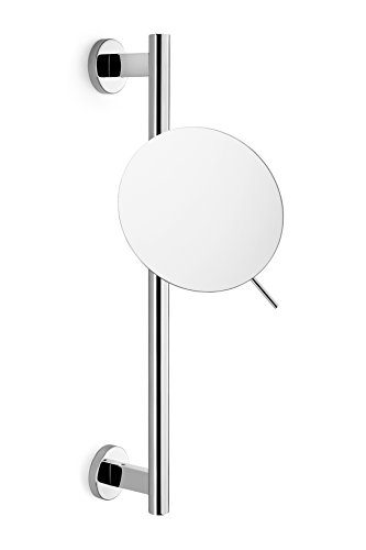 ZACK 40095 Scala Cosmetic Mirror With Glossy Finish Adjustable Height And Swiveling 20-Inch