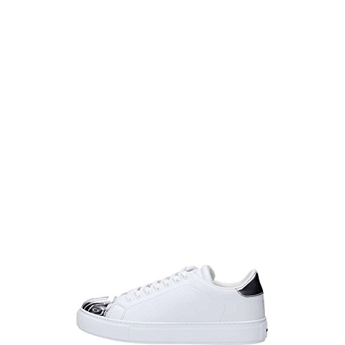 Pinko AMETISTA Sneakers Donna Pelle Bianco/argento Bianco/argento 41