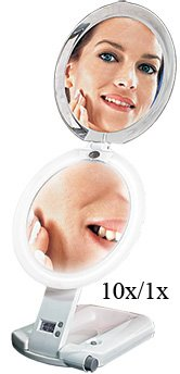 Ultimate Lighted Magnifying Make-Up Mirror 10X/1X front-62214