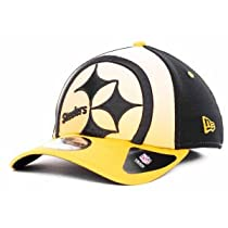 NFL Pittsburgh Steelers NE Graduation 39Thirty Flex Fit Cap, Small/Medium