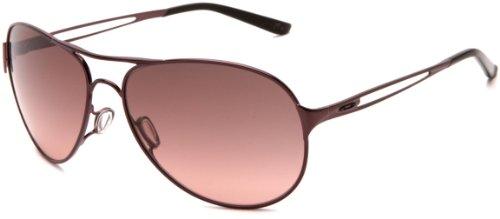 Oakley Women's Caveat Aviator Sunglasses,Blackberry Frame/Black Gradient Lens,One Size
