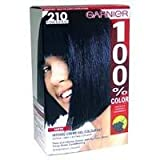 Garnier 100% Color Permanent Creme Colourant 210 Intense Blue Black pack