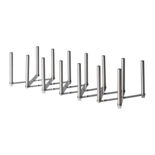 IKEA VARIERA - Supporto per coperchi, in acciaio INOX