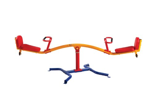 Gym Dandy Spinning Teeter Totter - Impact Absorbing Kids Playground Equipment - 360 Degree Rotation