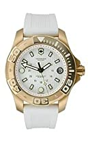 Victorinox Swiss Army Dive Master 500 Midsize White Dial White Rubber Ladies Watch 249057