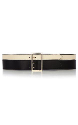 Black and white waist belt