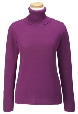 Click to buy TravelSmith Women's Silk-Cotton Turtleneckfrom Amazon!