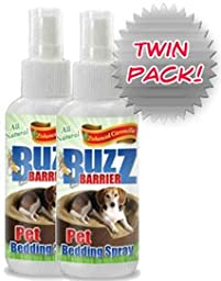 BuzzBarrier All Natural Pet Bedding Spray - Keeps Insects Away From Your Pet Safely and Effectively (2 Pack) Deet free