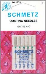 Euro-Notions Schmetz Quilt Machine Needles: 3 Size 11/75 & 2 Size 14/90