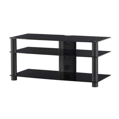 Sonorous LF6330 Black Glass and Smoked Aluminium Stand for TV Sizes upto 42inch
