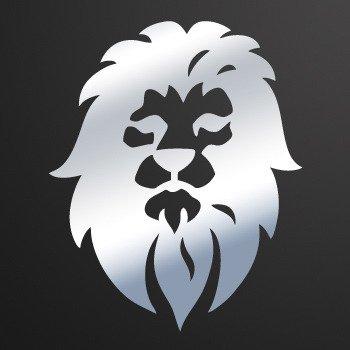 Lion Head... Chrome Mirror (07 X 5.7 inch) W9598