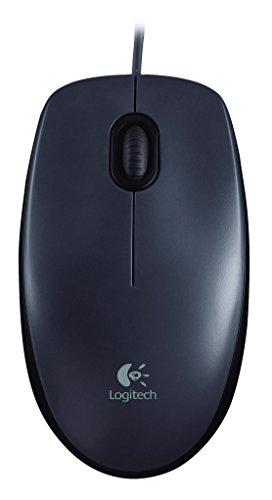 Logitech M90 Mouse USB, 2 Tasti, 1000 DPI, Nero