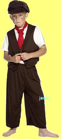 Victorian Boy Costume Age 9-12 Large