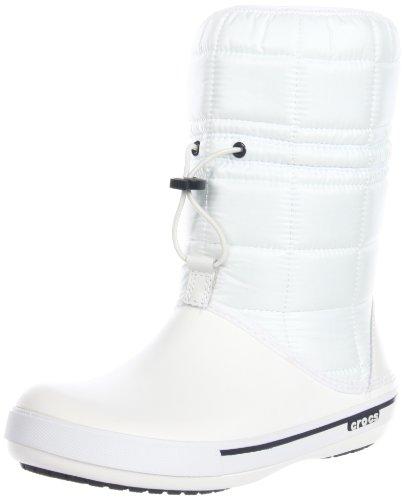 crocs CrocbandTM II.5 12933, Stivali da neve donna, Bianco (Blanc (White/Navy)), 38/39
