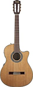 Fender CN-240SCE Classical Acoustic-Electric Guitar, Natural