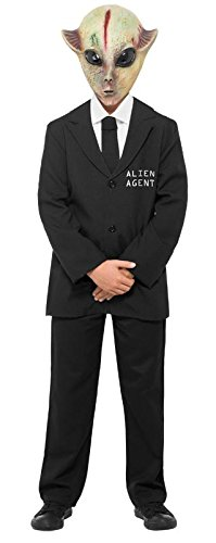 Smiffy's Men's Alien Agent Costume Jacket with Mock Shirt and Mask