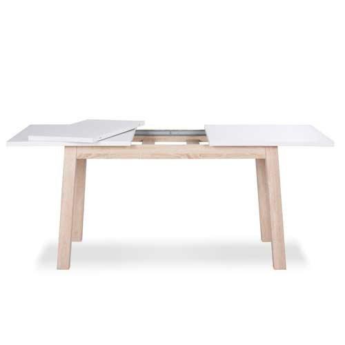 esstisch in wei mit sockel in sonoma eiche nachbildung sockel in echtholz design umlaufende. Black Bedroom Furniture Sets. Home Design Ideas