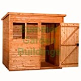 Summer Garden Buildings Shiplap Pent Shed - T & G Floor And Roof - 5' x 7'