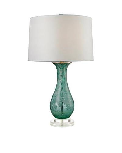 Artistic Lighting 27 Swirl Glass Table Lamp in Aqua, Aqua Swirl