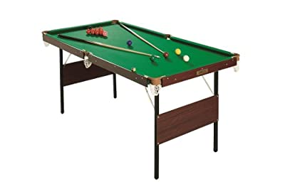 4ft 6in Green Snooker Games Table With Snooker Balls & Yellow Pool Balls Indoor from Bentley Sport