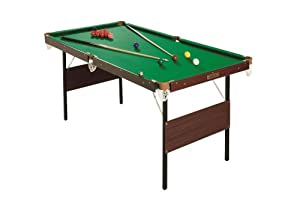 Tavolo da biliardo da interno verde con palle da snooker e pool gialle 1 4 m giochi - Tavolo da biliardo amazon ...