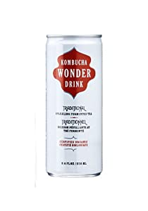 Kombucha Wonder Drink, Traditional, 8.4-Ounce Can (Pack of 24)