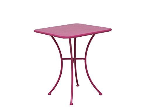 Siena Mybalconia 255077 Maui Tisch 60x60cm, matt-pink Stahlgestell matt pink
