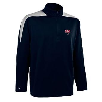 NFL Mens Tampa Bay Buccaneers 1 2 Zip Jersey Pullover by Antigua