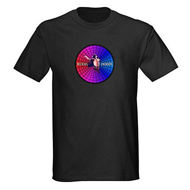 M.M Sound And Music Activated El Visualizer Vu-Spectrum Dancer Led T-Shirt (4*Aaa)