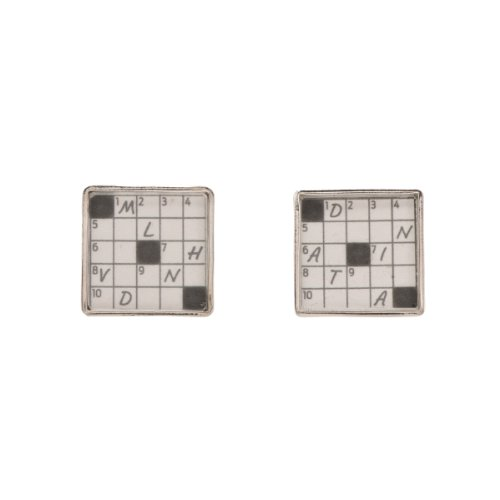Tokens & Icons The New York Times Crossword Puzzle Cufflinks (55CW)
